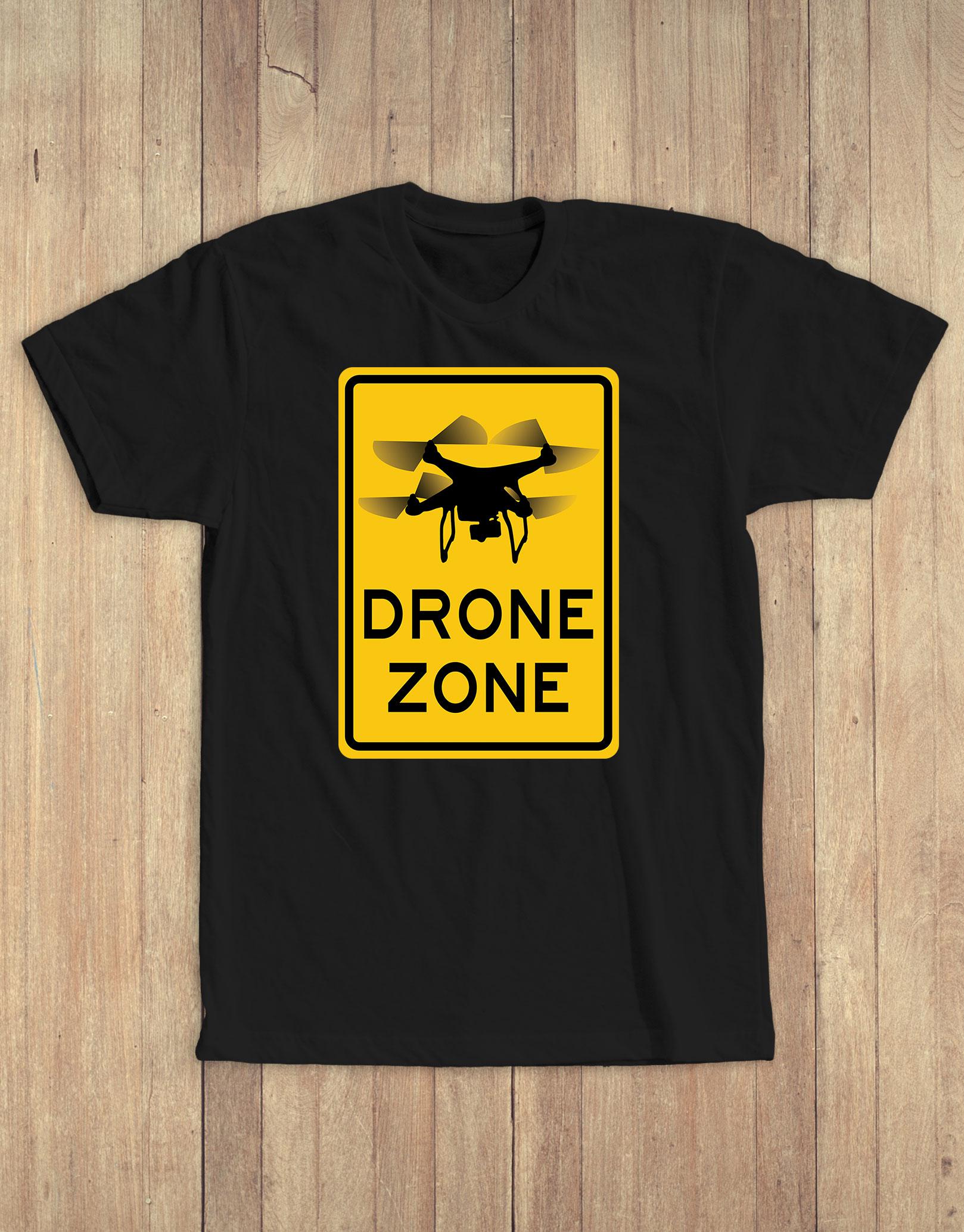 Drone zone tee black