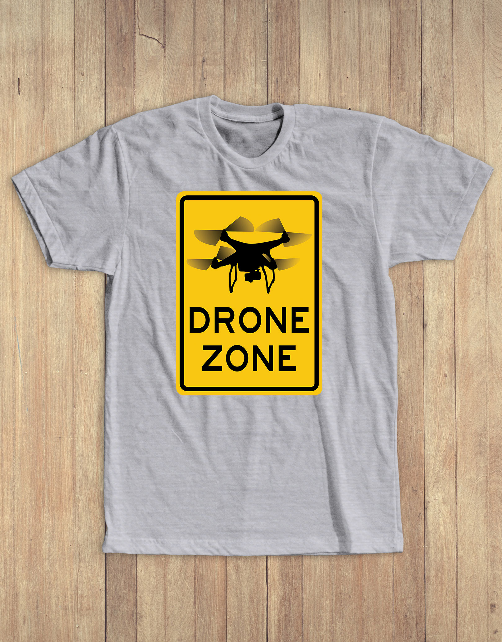 Drone zone tee grey