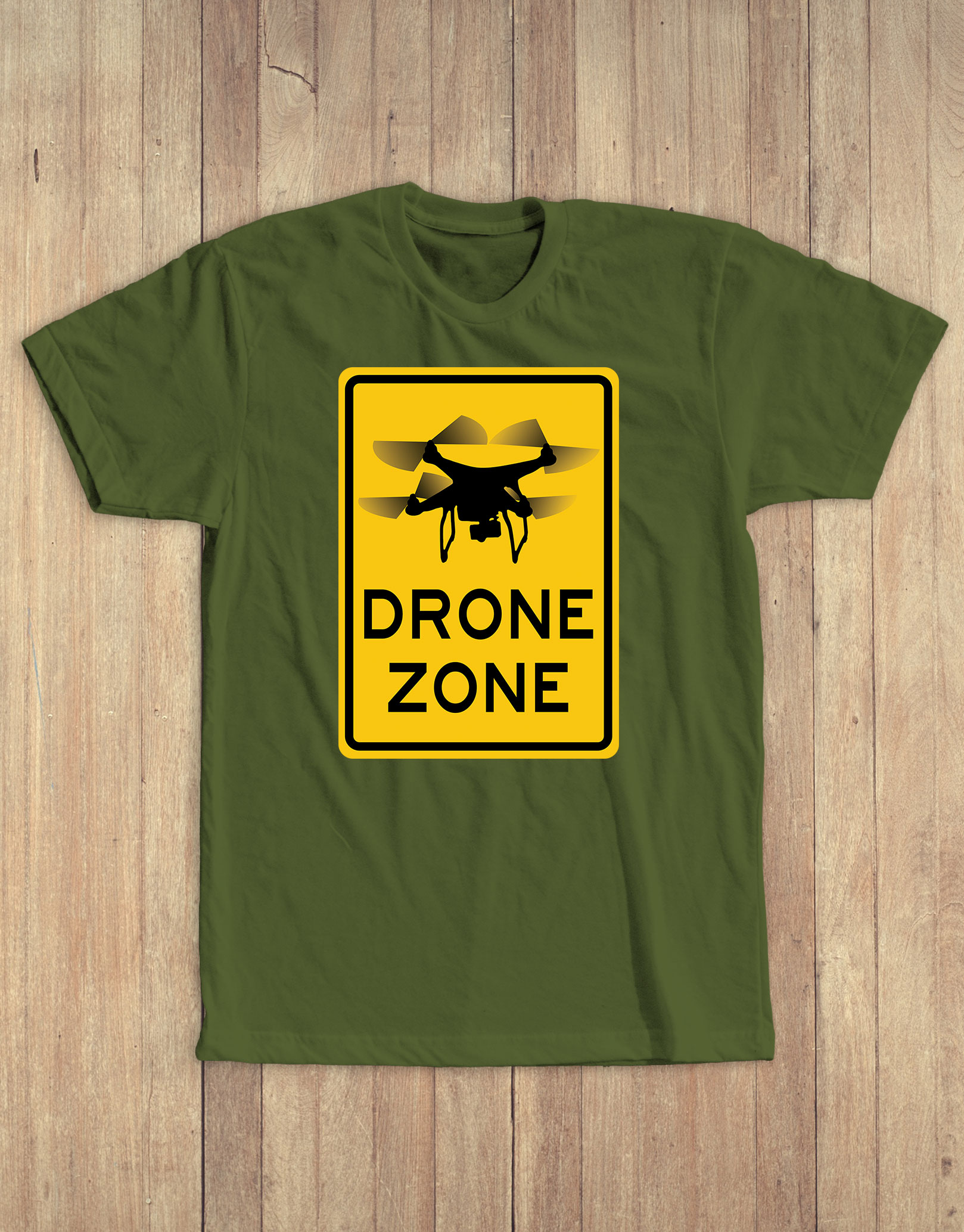 Drone zone tee olive